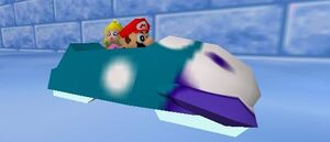 Mario party 64 mario and peach in the sled