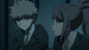 Naegi comforted Asahina