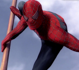 Spider-Man about to fight Doc Ock