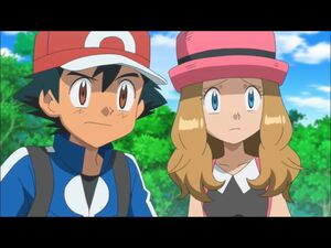 Ash and Serena's worried