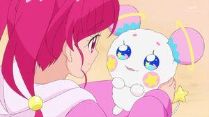 STPC48 Hikaru looks at Fuwa