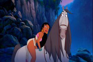 Chel on horse