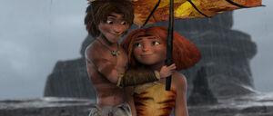 Eep and Guy's love umbrella