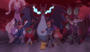 Ash, Alain and their Pokemons (XY133)