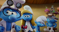 Brainy smurfette clumsy and hefty are mad