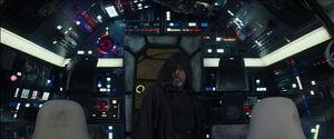 Luke inside the Falcon