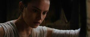 Rey finds the lightsaber