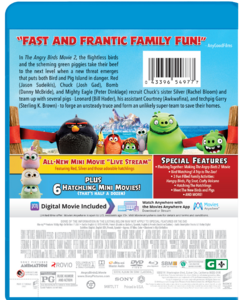 The Angry Birds Movie 2 Blu-Ray back cover