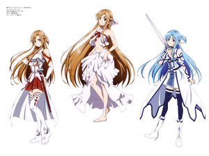 Yande.re 338808 alfheim online armor asuna (sword art online) asuna (titania) heels pointy ears sword sword art online tanabe kenji thighhighs