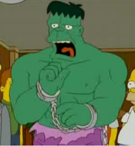 Hulk in the simpsons