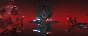 Rey and Kylo vs. Praetorian Guards