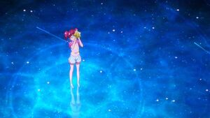 Sparkle StarTwin Hikaru look at the stars
