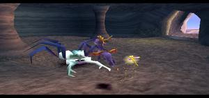 Spyro vs Metalback Spiders