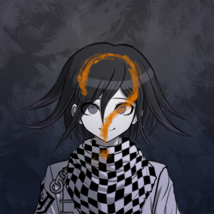 Danganronpa V3 Kokichi Oma Death Portrait (Question Mark)