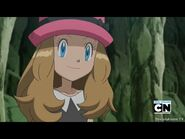 Serena smile to Ash