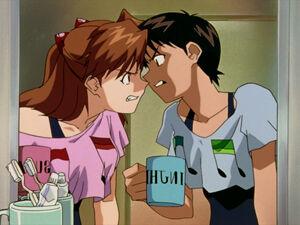 Asuka vs. Shinji