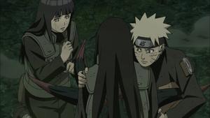 Hinata e Naruto ouvem as últimas palavras de Neji