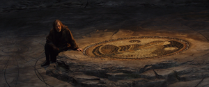 Luke at the First Jedi Temple