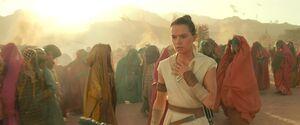 Rey notices that Kylo got her necklace
