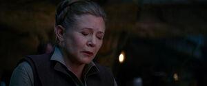Leia senses Han's death