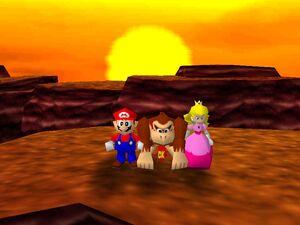 Mario Party 64 mario dk and peach