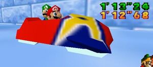 Mario party 64 mario and luigi in the sled