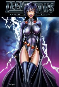 Raven (New Titans Comic Cover)