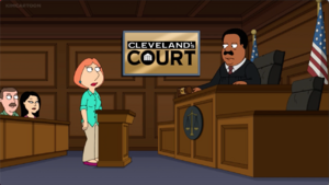 Lois in Cleveland's Court