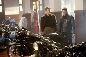 Bruce Wayne and Dick Grayson motorbikes