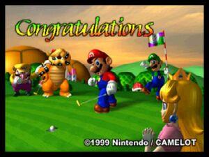 Mario Golf 64 congratulations