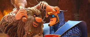Scoob! Blue Falcon vs Captain Caveman
