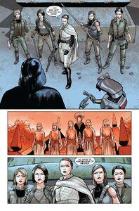 The Handmaidens vs. Darth Vader