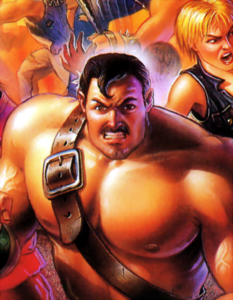Final Fight - Mike Haggar as he appears on the front box cover of the US Version of Final Fight 3