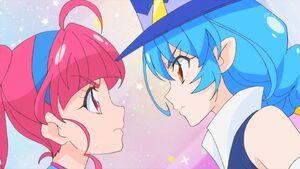 STPC36 Hikaru and Yuni butt heads