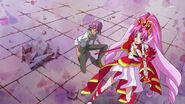 Cure Scarlet and Kanata (GPPC39 - Shut your mouth, you cruel one!)