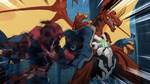 Drago facing Cyndeous (Stop it, Cyndeous!)
