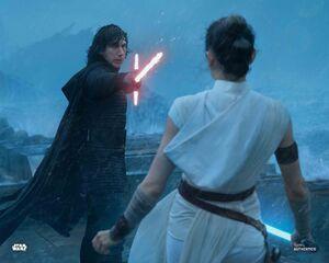 Kylo duels Rey - TROS