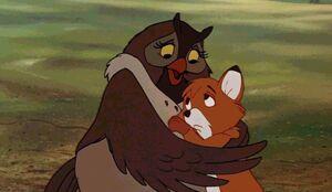 Mama Owl hug Tod