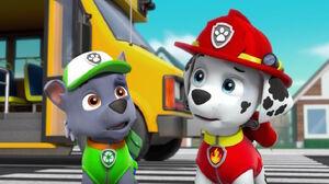 PAW Patrol Pups Save a School Bus Scene 51 Marshall Rocky