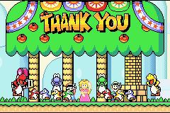 Super Mario World - Super Mario Advance 2 tank you screen