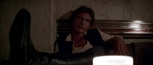 Han Solo facing Greedo