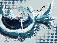 Hatsune Miku Vocaloid anime girl music Megurine Luka video game beauty beautiful lovely sweet cute humanoid green hair tail long character 1600x1200