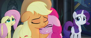 Pinkie and her friends crying over Twilight's death