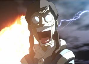 Korra's comedic scream