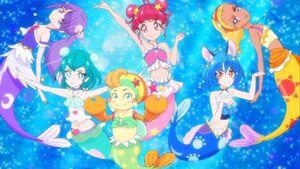 Star Twinkle Precure in mermaid form