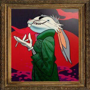 Bugs Bunny, drawn by Jamie Hewlett (Gorillaz)