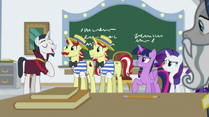 Neighsay giving approval to Flim and Flam S8E16