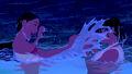Pocahontas & Nakoma laughing and splashing
