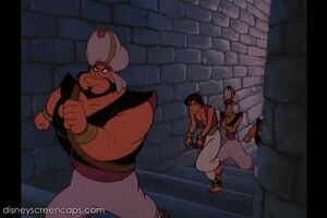 Razoul Aladdin and The Guards walking