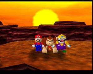 Mario party 64 dk wario and mario